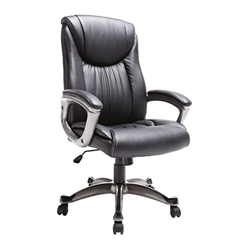 High Back Leather Executive Office Desk Task computer Chair W/Metal