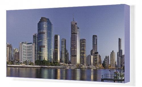 canvas-print-of-brisbane-skyline