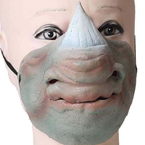 PartyCostume Deluxe Neuheit-Halloween-Kostüm-Party-Latex-Tierkopf-Schablone Masken Nashorn - -