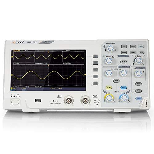 "Docooler Owon SDS1022 Digitales Oszilloskop Oszillometer Speicher Oszilloskop 2CH 20MHz 100MS / s 7""mit LCD-Display"