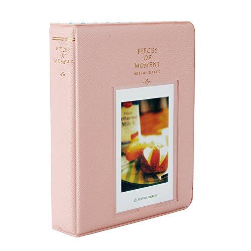 Fetoo 64 Taschen Mini Album Schutzhülle Foto Album Fotohüllen für Mini Fujifilm Instax Miini Film 7S/8/25/50/90, 14 * 11cm (Pink)