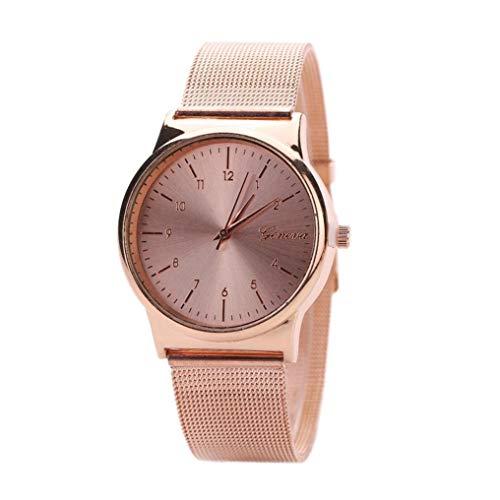 JoyRolly Reloj de Pulsera de Acero Inoxidable de Cuarzo Dorado clásico para Mujer, Oro Rosa