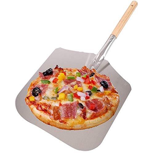 AllRight Pizzaschaufel Aluminium Pizzaschieber mit Holzgriff Brotschieber für Backofen