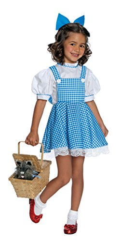 Toto Erwachsene Für Kostüm - Wizard of Oz tm Dorothy tm Luxuskleid mit Hairbow. Schließt Korb, Toto Hund, Socken und Schuhe aus. Ordnen Sie nach der Größe Medium für Alter 5-7 an