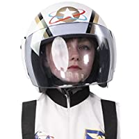 Boys Girls White Space Explorer Helmet Astronaut Fancy Dress Costume Outfit Party Hat