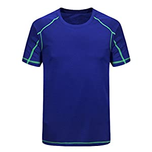 41CBzm0hq9L. SS300  - YiiJee Unisex Compression T-Shirts Quick Dry Athletic Fitness Short Sleeve T-Shirt