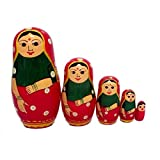 Funwood Games Indian Nesting Doll Set for Girls