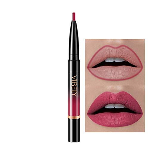 Innerternet Set De CosméTiques De Maquillage De Longue DuréE ImperméAble Crayon-Crayon à LèVres éTanche Double Boutonnage Lipliner ImperméAble 16 Couleurs (K-1)