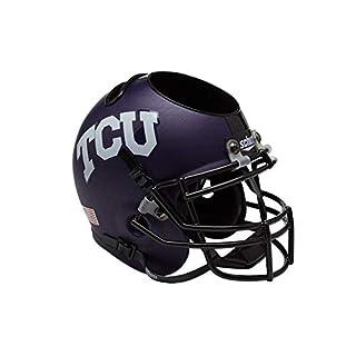 Schutt NCAA TCU Horned Frogs Helmet Desk Caddy, Matte Purple AquaTech