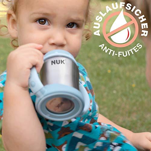 NUK Learner Cup Trinklernbecher, auslaufsicher, hochwertiger Edelstahl, langlebig und hygienisch, 125ml, 6-18 Monate, Rosa (Girl) - 4