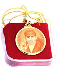 Sai Baba Gold Plated Pendant With Chain | Shri Sai 24k Gold Plated Yantra Pendant | Rudra Divine | With High Quality...