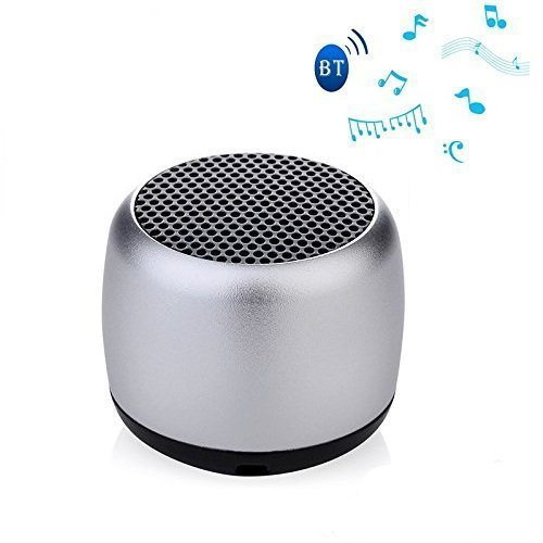 Sampi Samsung Galaxy S Duos Compatible Mini Coin Bluetooth Speaker With LED Indicator (Silver)