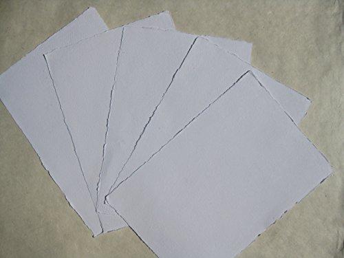 handgeschöpftes Büttenpapier Aquarellpapier A3 10 Bogen/Set extrastark 300g/m² naturweiß BaumwollLinters