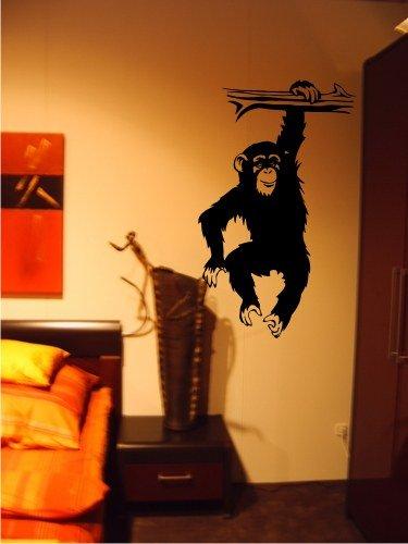 Zertifikato Wandtattoo Wandbild #86 Affe am Ast Afrika ver. Größen und Farben