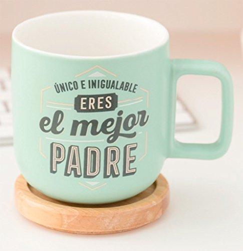 Mr. Wonderful WOA08864ES Taza Único e inigualable, Eres el Mejor Padre (Espanol), Cerámica, 8x7.3x4 cm