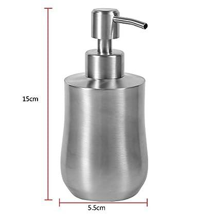 Dispensador de bomba de líquido en forma de cucurbitáceas de acero inoxidable, dispensador de loción de encimera para cocina o baño, recipiente de jabón en caja de 350 ml