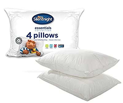 Silentnight Essentials Collection Pillow, Pack of 4