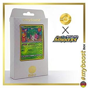 Shaymin 33/214 Holo Reverse - #myboost X Sonne & Mond 8 Echo Des Donners - Box de 10 Cartas Pokémon Alemán