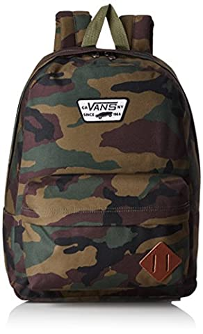 Vans Old Skool II Backpack Casual Daypack, 42 cm, 22 Liters, Classic Camo