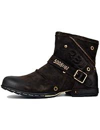 Suetar Chukka Boots for Men in Vera Pelle Stivaletti Zipper-up Moda Autunno  e Inverno Scarpe Casual da Uomo con… 25667963496