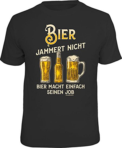Bier - jammer nicht - T-Shirt - Grösse XL - Fun Spaß Sprüche