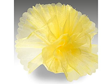 Organza Tulle Circles Crystal Pack of 50Standard Yellow