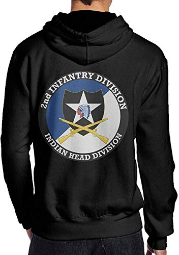 YNICKO Kapuzenpullover,Hemden Tops 2nd Infantry Division with Crossed Rifles Men's Pullover Hooded Sport Sweatshirt - Cashmere Deep V-neck Sweater