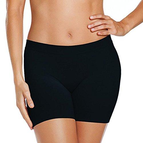 Damen Schwarz Kleid Hose Hosen - Jockey® Skimmies® Microfiber Short, Kurz, Schwarz,