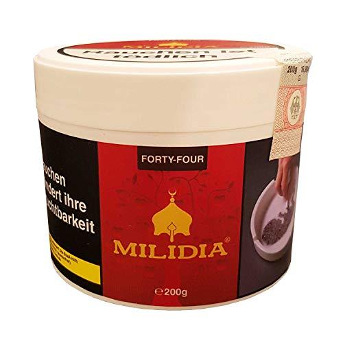 MILIDIA Fourty-Four 200g Doppelapfel Shisha-Tabak Hookah Wasserpfeifentabak rauchfertig