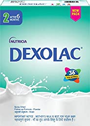 Dexolac Stage 2 Follow Up infant milk formula Powder for Babies, After 6 months, BIB Pack (400g)