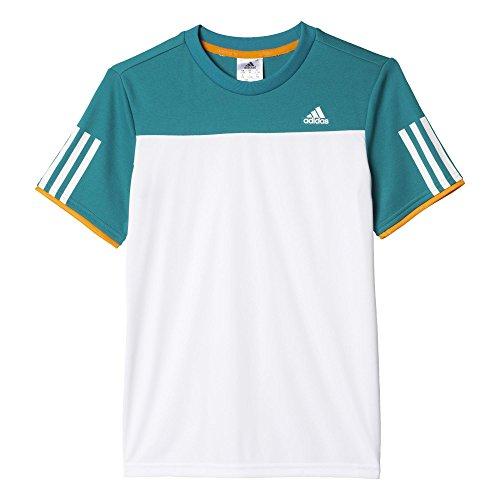 adidas Jungen T-shirt B Club Tee, Weiß/Grün, 116, 4055344283851 (Damen Adidas Kurze Golf)