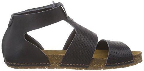 art - Creta, Scarpe col tacco con cinturino a T Donna Nero (Nero (nero))