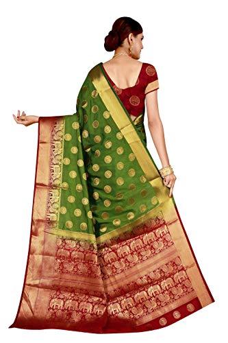 8bbd917db1 37% OFF on Dealsure Women's Multicolor Banarasi Silk Saree With Blouse  Piece. on Amazon | PaisaWapas.com