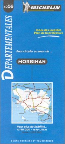 Carte routière : Morbihan, 4056, 1/150000