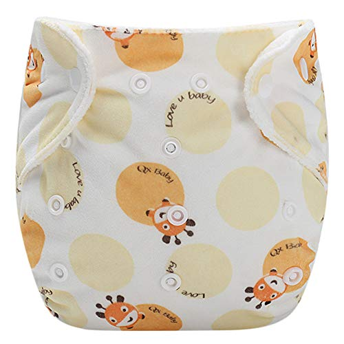 Finebo Baby Infant Kid Training Pants Potty Training Underwear Nappy Pants Reusable Adjustable Diaper Washable Nappies (Gelb)