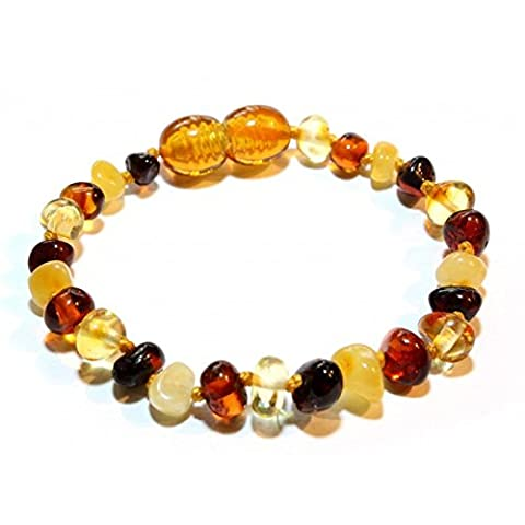 100% Genuine Baltic Amber Anklet Bracelet Multi coloured sizes 11cm 12cm 13cm 14cm 15cm 16cm 17cm 18cm. Free and Fast Delivery. Money Back Guarantee