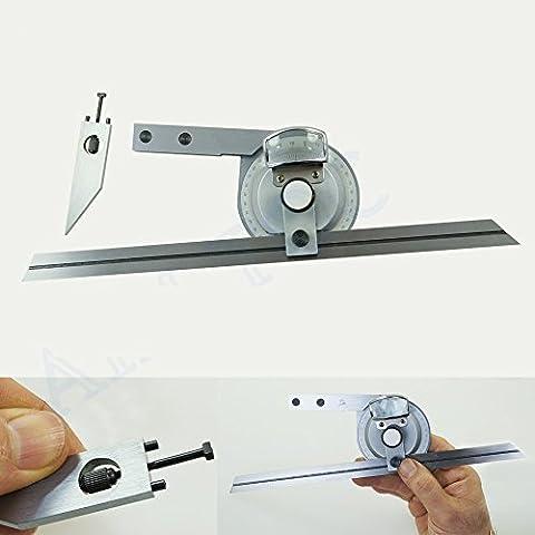 Goniometro di precisione universale, con lente di ingrandimento, per misurazioni da 0 a 360 gradi 401136
