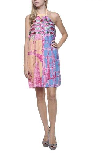 Custo Barcelona Damen Kleid Seiden-Kleid NAOMI YUHU Bunt