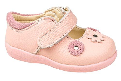 (gibra Ballerinas für Babys und Kleinkinder, Leder, Rosa, Gr. 24)