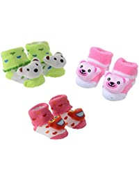 a2307d194c7f6 SHOP FRENZY Fancy Designer Baby Girl Boys Booties Socks Shoes Cotton and  Soft for Kids (0-1 Years) Pink Blue Purple RED Black…