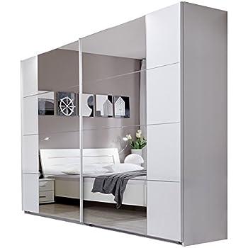 schwebet renschrank kleiderschrank ca 300 cm wei mit. Black Bedroom Furniture Sets. Home Design Ideas