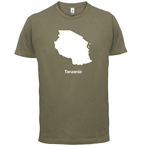 Tanzania / Tansania, Vereinigte Republik Silhouette - Herren T-Shirt - 13 Farben Khaki