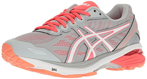 ASICS Women's GT-1000 5 Running Shoe, Mid Grey/White/Diva Pink, 12.5 D US (Asics Womens Shoes Athletic Grau)