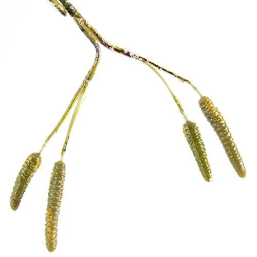 artplants Set 2 x Deko Birkenzweige mit geeisten Beeren, 155 cm – Kunstzweig