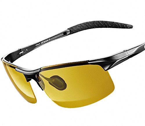 ATTCL Herren Polarisierte Treiber Glasses Sport Sonnenbrillen Al-Mg Metallrahme Ultra leicht 8177...