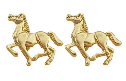 Hanessa Süße Pferde Ohrringe in Gold Vergoldet Tier-Liebe Reiten Reit-Sport Mädchen- / Damen-Schmuck