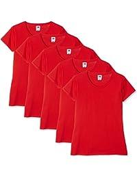 Fruit of the Loom Camiseta (Pack de 5 para Mujer