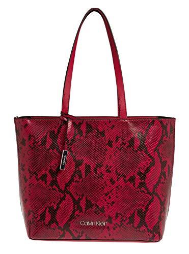 Preisvergleich Produktbild Calvin Klein Stitch EW Shopper CB Cherry Snake / Cherry