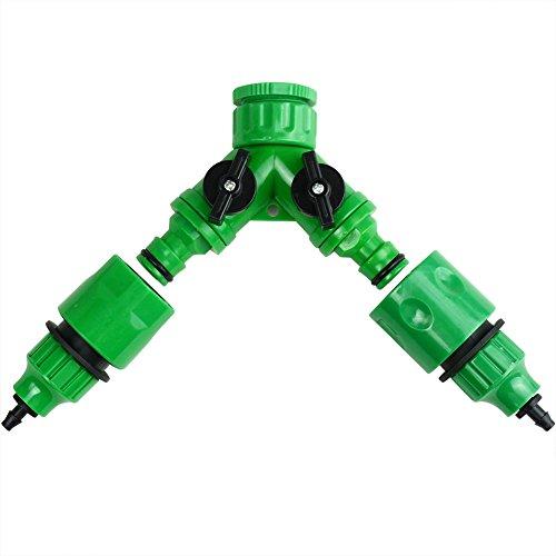 Accessoires pour Micro Irrigation, à 2 Voies, connecteur mâle à dégagement Rapide, Adaptateur du Tube Robinet de Jardin 4mm/7mm Connector Vert