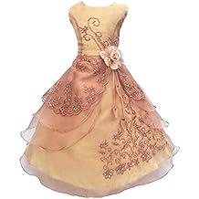 LSERVER-Vestido de Flores Para Las Niñas y Princesas en Verano Para Fiestas